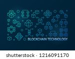 blockchain technology vector...   Shutterstock .eps vector #1216091170