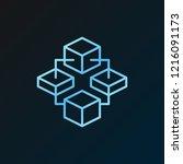blockchain technology vector...   Shutterstock .eps vector #1216091173