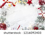 christmas background with xmas... | Shutterstock . vector #1216092403