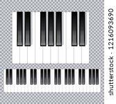 piano keyboard diagram   piano... | Shutterstock .eps vector #1216093690