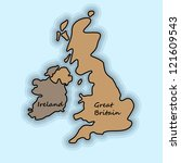 Simple Map Of Great Britain And ...