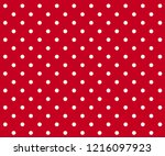 vintage polka dots white and... | Shutterstock .eps vector #1216097923