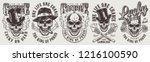 vintage gambling labels set... | Shutterstock .eps vector #1216100590