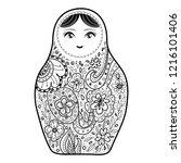 russian doll matrioshka... | Shutterstock . vector #1216101406