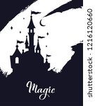 fairy tale vector  castle... | Shutterstock .eps vector #1216120660