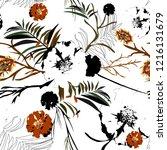 seamless stylish pattern of... | Shutterstock .eps vector #1216131679