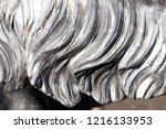 grey wavy granite lion mane... | Shutterstock . vector #1216133953