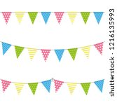 celebration bunting mix | Shutterstock .eps vector #1216135993