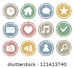 web icon stamp | Shutterstock .eps vector #121613740