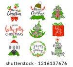 merry christmas holidays... | Shutterstock .eps vector #1216137676
