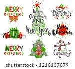 merry christmas holidays... | Shutterstock .eps vector #1216137679