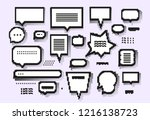 empty white 8 bit speech... | Shutterstock .eps vector #1216138723