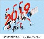 isometric flat design.concept...   Shutterstock .eps vector #1216140760