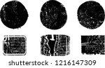 grunge post stamps collection ... | Shutterstock .eps vector #1216147309