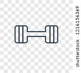 barbell concept vector linear... | Shutterstock .eps vector #1216156369