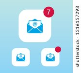 mail or envelope icon with...