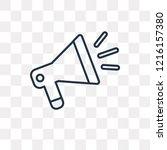 announcement vector outline... | Shutterstock .eps vector #1216157380