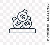 heavy weight vector outline... | Shutterstock .eps vector #1216157590