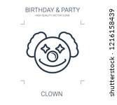 clown icon. high quality line...   Shutterstock .eps vector #1216158439