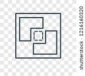 crop concept vector linear icon ...   Shutterstock .eps vector #1216160320