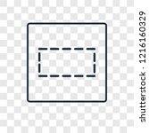row concept vector linear icon... | Shutterstock .eps vector #1216160329