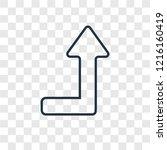 undo concept vector linear icon ... | Shutterstock .eps vector #1216160419
