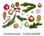 christmas and new year... | Shutterstock .eps vector #1216162600