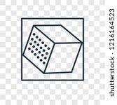 cube concept vector linear icon ... | Shutterstock .eps vector #1216164523