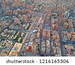 colorful aerial view of urban... | Shutterstock . vector #1216165306