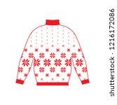 winter warm sweater handmade ... | Shutterstock .eps vector #1216172086