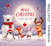 merry christmas and happy new... | Shutterstock .eps vector #1216175566