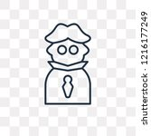 detective vector outline icon...   Shutterstock .eps vector #1216177249