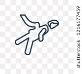 acrobat woman vector outline...   Shutterstock .eps vector #1216177459