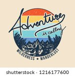 vintage adventure is calling... | Shutterstock .eps vector #1216177600