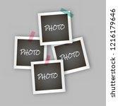 instant square photo frame... | Shutterstock .eps vector #1216179646