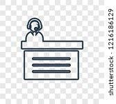 commentator concept vector... | Shutterstock .eps vector #1216186129