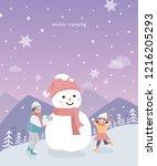 vector illustration of new year ... | Shutterstock .eps vector #1216205293