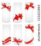 set of beautiful cards with red ... | Shutterstock . vector #121621864