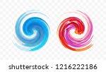 abstract swirl design element.... | Shutterstock .eps vector #1216222186