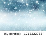winter christmas background... | Shutterstock . vector #1216222783