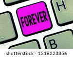 word writing text forever.... | Shutterstock . vector #1216223356