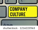 text sign showing company... | Shutterstock . vector #1216223563