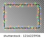 christmas lights border vector  ... | Shutterstock .eps vector #1216225936