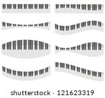 piano keys for different forms... | Shutterstock .eps vector #121623319