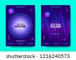 electronic music movement... | Shutterstock .eps vector #1216240573