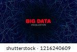 big data stream visualization.... | Shutterstock .eps vector #1216240609