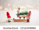 christmas background with... | Shutterstock . vector #1216248886