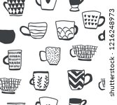 Seamless Pattern With Cups Of...
