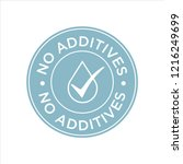 additives free. blue and white... | Shutterstock .eps vector #1216249699