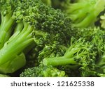 delicious broccoli closeup | Shutterstock . vector #121625338
